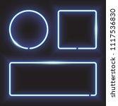 blue neon frame  circle  square ...   Shutterstock .eps vector #1117536830
