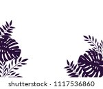 background with palm leaves ... | Shutterstock .eps vector #1117536860