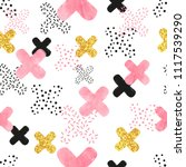 seamless pattern with pink ... | Shutterstock .eps vector #1117539290