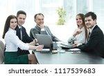 portrait of successful business ...   Shutterstock . vector #1117539683