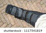 black walker as an orthopedic... | Shutterstock . vector #1117541819