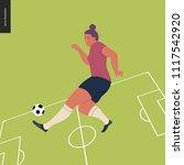 womens european football ... | Shutterstock .eps vector #1117542920