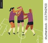 womens european football ...   Shutterstock .eps vector #1117542923
