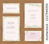 set of floral vintage wedding...   Shutterstock .eps vector #1117544354