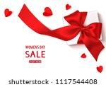 womens day sale template design.... | Shutterstock .eps vector #1117544408
