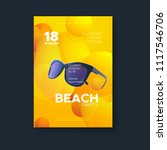 beach party flyer design.... | Shutterstock .eps vector #1117546706