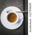 espresso wooden background... | Shutterstock . vector #1117550039