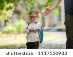 sad and unhappy child with... | Shutterstock . vector #1117550933