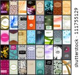 vector variety of 40 vertical... | Shutterstock .eps vector #111755129