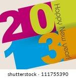 happy new year over beige... | Shutterstock .eps vector #111755390