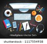 top view vector illustration...   Shutterstock .eps vector #1117554938
