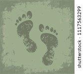 foot icon vector design | Shutterstock .eps vector #1117563299
