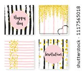 wedding confetti with stripes....   Shutterstock .eps vector #1117565018