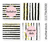 wedding confetti with stripes....   Shutterstock .eps vector #1117565030
