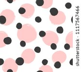 repeated round spots painted... | Shutterstock .eps vector #1117567466