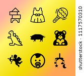 vector icon set about baby with ... | Shutterstock .eps vector #1117570310