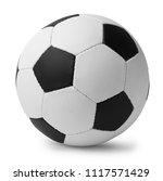 new soccer ball on white... | Shutterstock . vector #1117571429