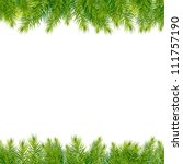 christmas tree borders ... | Shutterstock .eps vector #111757190