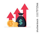 income increase strategy.... | Shutterstock .eps vector #1117572566