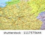 map of warsaw  warszawa   poland | Shutterstock . vector #1117575644