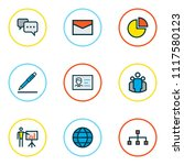 trade icons colored line set... | Shutterstock .eps vector #1117580123