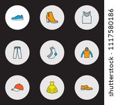 garment icons colored line set...   Shutterstock .eps vector #1117580186