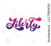 vector illustration of liberty...   Shutterstock .eps vector #1117583420