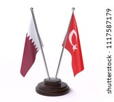 qatar and turkey  two table... | Shutterstock . vector #1117587179