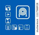 fire hose reel icon. white sign ... | Shutterstock .eps vector #1117588928