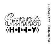 summer holiday. isolated vector ... | Shutterstock .eps vector #1117593944