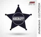 silhouette sheriff star symbol | Shutterstock .eps vector #1117595234