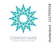 abstract symmetry circle logo....   Shutterstock .eps vector #1117595318