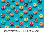 creative pattern of colorful... | Shutterstock . vector #1117596203