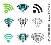 set of wi fi icon. internet... | Shutterstock .eps vector #1117597496