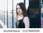close up outdoor portrait of a... | Shutterstock . vector #1117600334