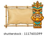 tiki traditional hawaiian... | Shutterstock .eps vector #1117601099