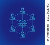vector cyan outline design... | Shutterstock .eps vector #1117603760