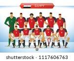 egypt national football team... | Shutterstock .eps vector #1117606763