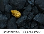 hard coal in the pile. a piece... | Shutterstock . vector #1117611920