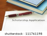 school scholarship application... | Shutterstock . vector #111761198