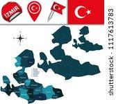 vector map of izmir  turkey... | Shutterstock .eps vector #1117613783