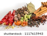 Variety Of Spices Heap ...