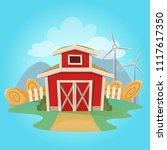 red barn vector illustration...   Shutterstock .eps vector #1117617350