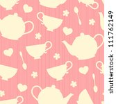 seamless pattern with tea pots ... | Shutterstock .eps vector #111762149