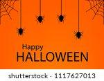 grunge halloween background... | Shutterstock .eps vector #1117627013