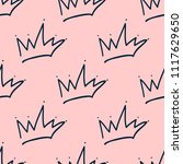 repeated outlines of crowns...   Shutterstock .eps vector #1117629650