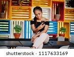 stylish african american woman... | Shutterstock . vector #1117633169