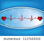 abstract molecules medical... | Shutterstock .eps vector #1117633310