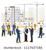 architect and engineer on the... | Shutterstock .eps vector #1117637186