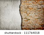 old cracked brick wall...